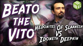 Hedonites of Slaanesh vs Idoneth Deepkin Age of Sigmar Battle Report - Beato the Vito Ep 31