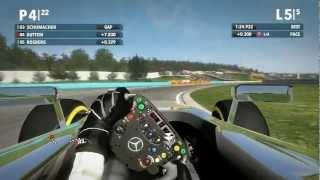F1 2012 PC HD Cockpit Gameplay Hungaroring