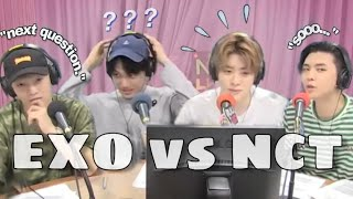 what happens when NCT interviews EXO