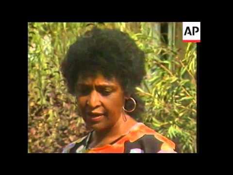 South Africa - Winnie Mandela speaks about imprisoned leader