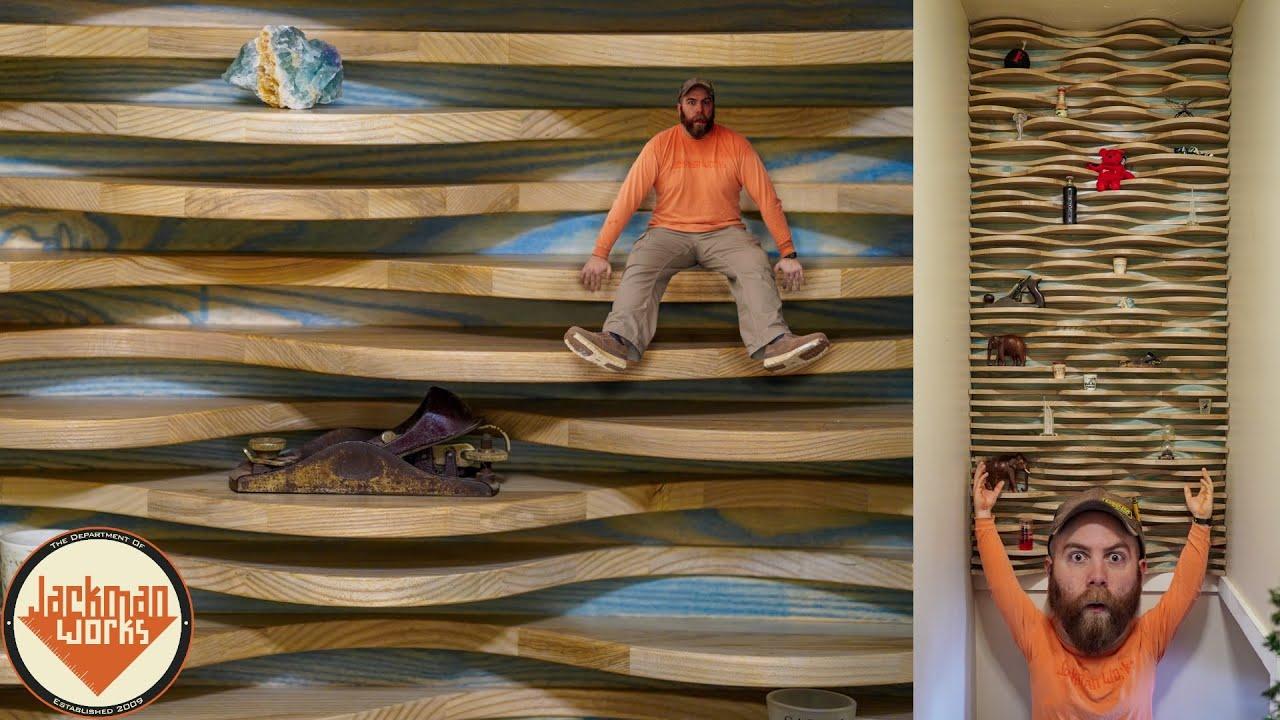 Wavy Shelf Accent Wall