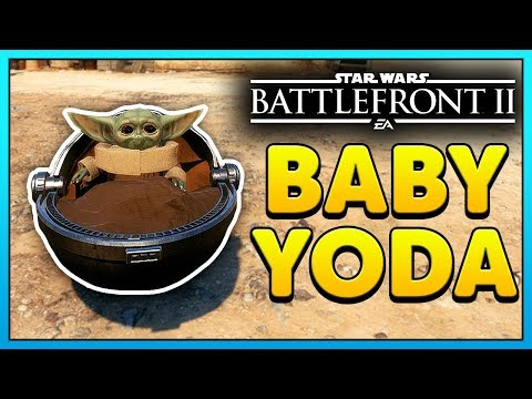 NEW Star Wars Battlefront 2 Baby Yoda Mod Gameplay (The Child)