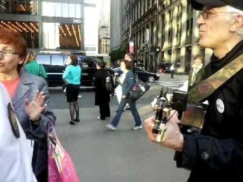 Occupy singer steve  ows zuccotti park