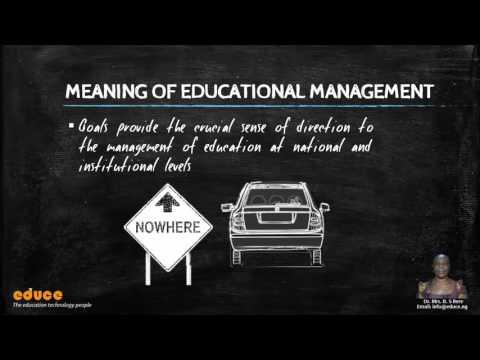 INTRODUCTION TO EDUCATIONAL MANAGEMENT