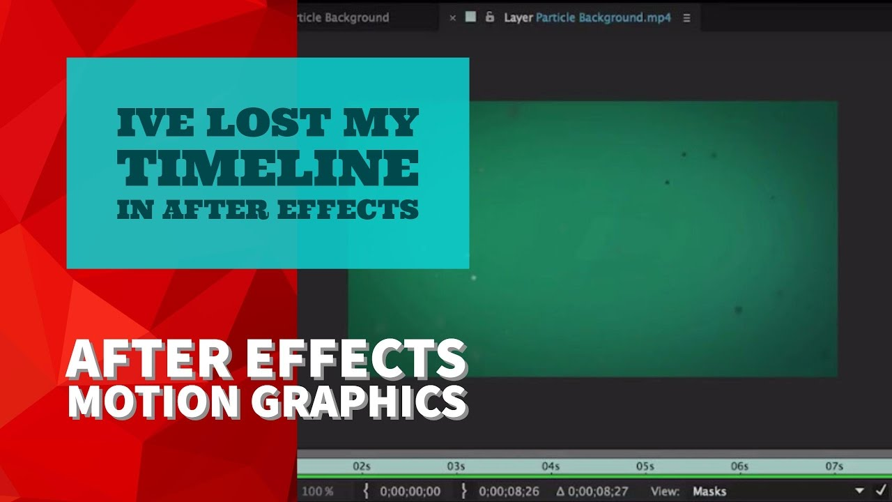 15/51 | Ive lost my timeline in After Effects