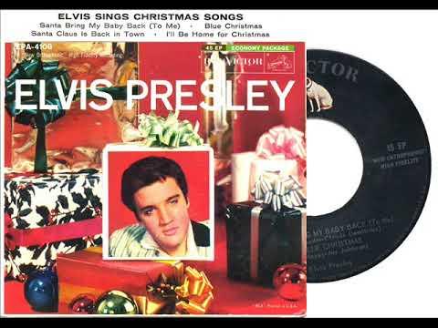1957 HITS ARCHIVE: Blue Christmas - Elvis Presley - YouTube
