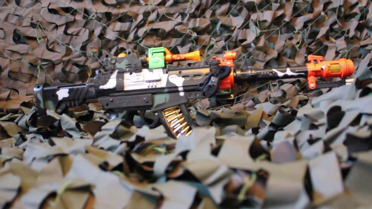 Kids Army Futuristic M16 Machine Gun