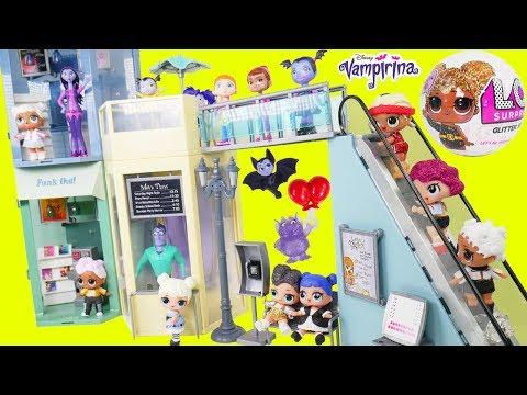 Don't Wake Vampirina Shimmer and Shine LOL Surprise Dolls Routine Custom Mall Pool Party Sleepover!