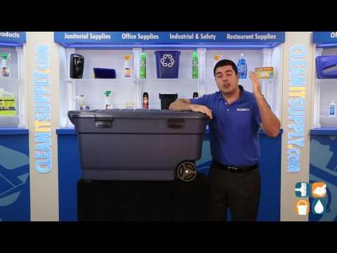 Etonnant Rubbermaid 2463 Roughneck Jumbo 45 Gallon Wheeled Storage Box   YouTube