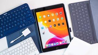 Gambar cover Apple iPad 7 Zubehör: Die besten Tastaturen, Hüllen, Adapter & mehr