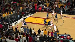 NBA 2K12 Gameplay PC Miami vs Atlanta 4th quarter