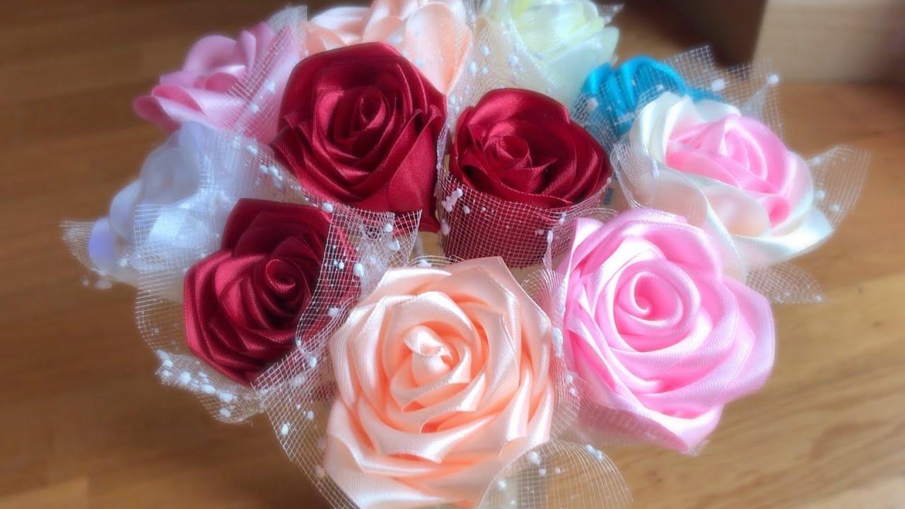 Amazing Ribbon Flower Work - Hand Embroidery Flowers Design - Sewing Hacks - DIY Easy Flower Making