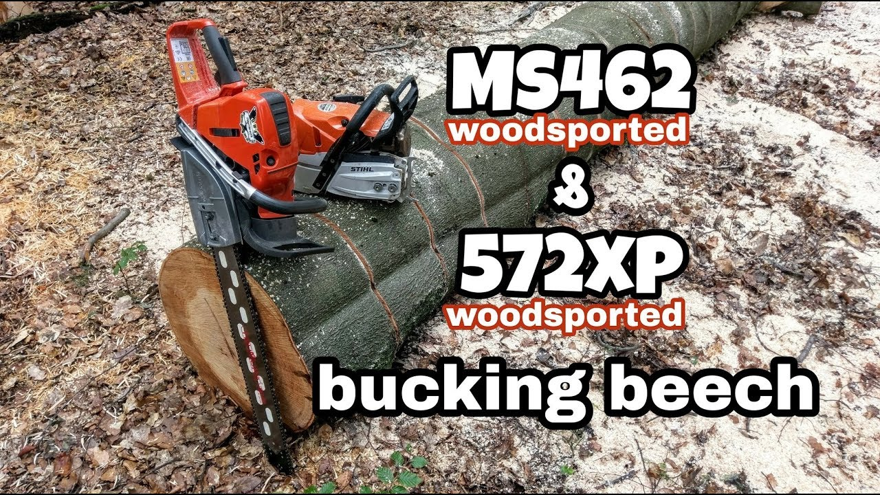 Top Stihl MS 462 (ported) vs. Husqvarna 572xp (ported) bucking beech #RR_23