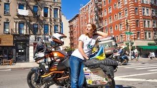 Анна Гречишкина в Нью-Йорке. Кругосветное путешествие на мотоцикле.(Следите за путешествием Ани на ее сайте http://www.ihaveadreamrtw.com Анна Гречишкина - украинка, которая решилась на..., 2014-10-06T22:07:45.000Z)