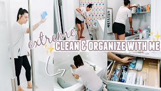 EXTREME CLEAN \u0026 ORGANIZE WITH ME! | CLEANING MOTIVATION | MORE WITH MORROWS
