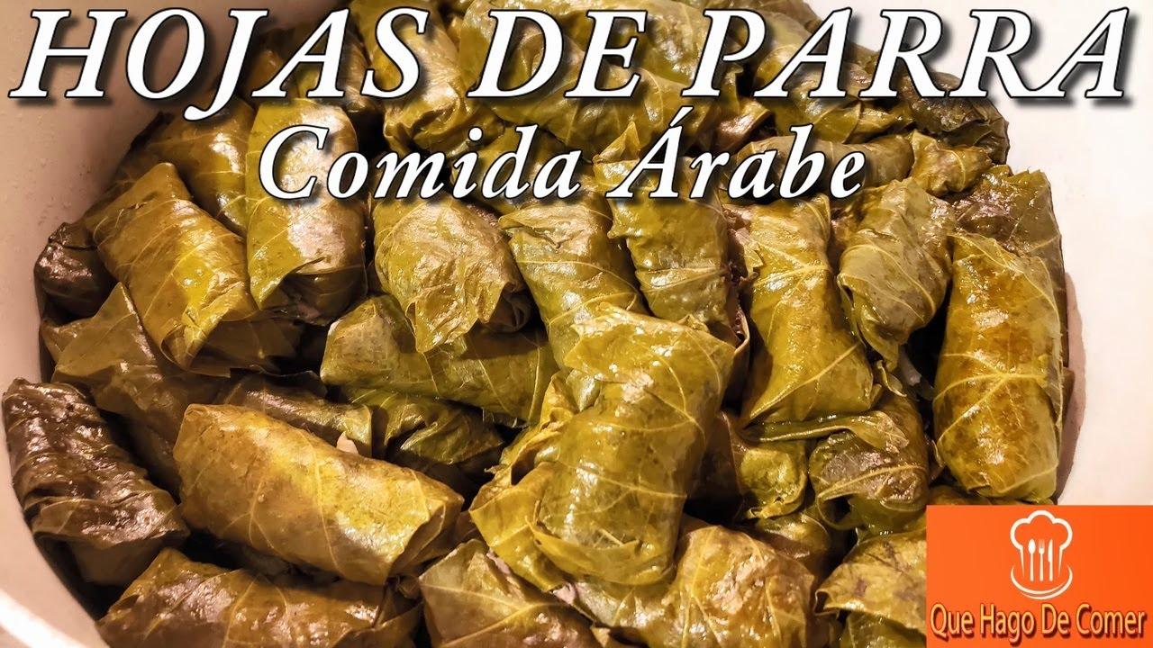HOJAS DE PARRA Receta Original Para Negocio Comida Árabe Receta Para Negocio De Restaurante