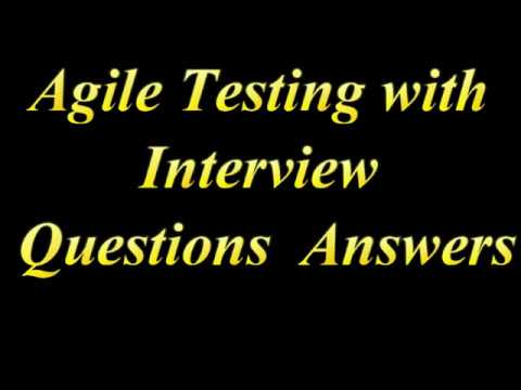 Agile Testing Interview Questions with Answers - YouTube