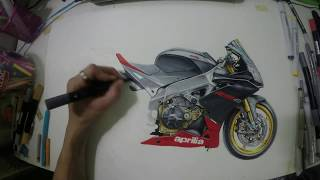 Drawing aprilia rsv4  By new superbike art