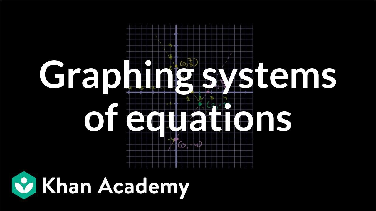 Systems of equations with graphing: 5x+3y=7 & 3x-2y=8 (video ...