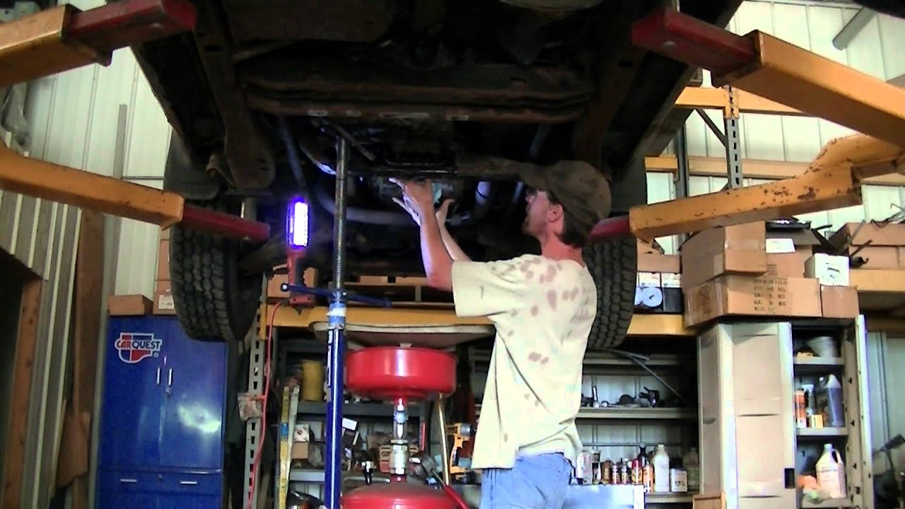 98 Chevy S10 4x4 Transmission Filter Change - YouTube