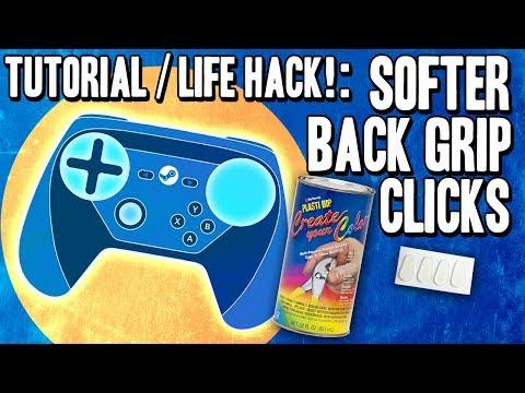 Life Hack! Softer Back Paddle Grip Clicks DIY Modification - Steam Controller Tutorial / Tip