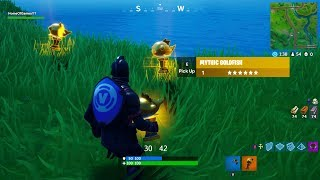 How to find Mythic Goldfish in Fortnite Fishing Frenzy! (FREE PICKAXE)