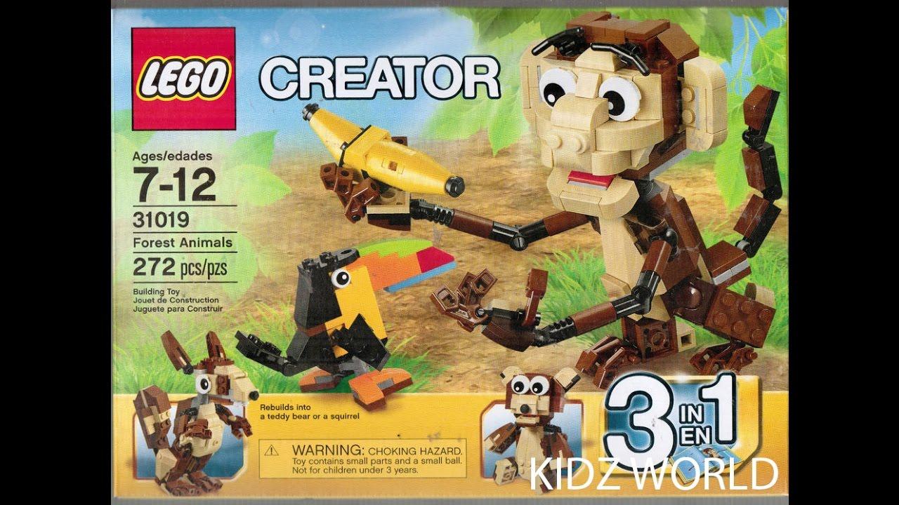 31019 FOREST ANIMALS lego creator NEW sealed 3 in 1 legos set monkey toucan