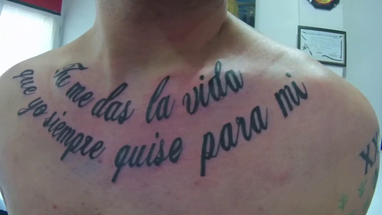 Frase Tattoo Pecho Youtube
