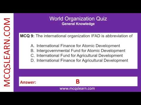 World Organization Quiz - IDA, The United Nations, international Hydrographic Organization Quiz