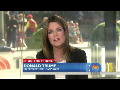 Savannah Guthrie asks Donald Trump about his self 'congrats'