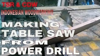 Modifikasi bor listrik menjadi gergaji sirkel/sircular saw