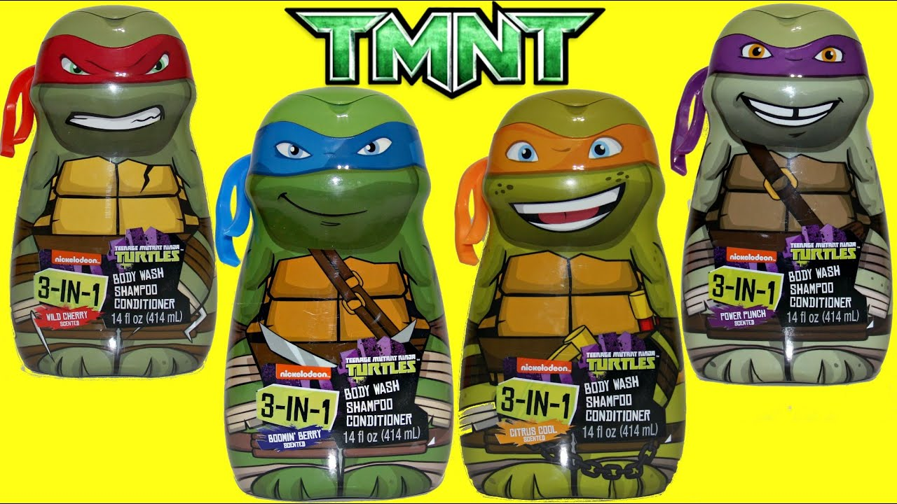 Teenage Mutant Ninja Turtles TMNT 3 In 1 Bath Soap, Squirters, Toy  Surprises / TUYC   YouTube
