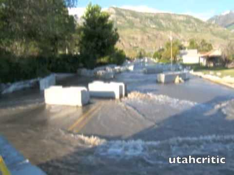 Flooded Street in Pleasant Grove Utah