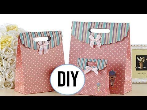 DIY Ide kreatif Membuat paper Bag Dari Kertas Kado