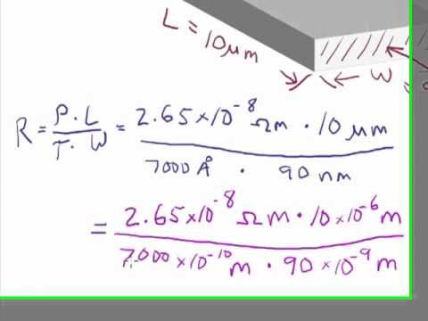 Microfabrication: Resistance Calculation