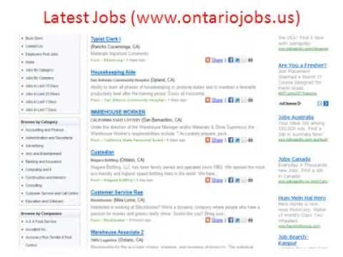 Ontario Jobs | Jobs in Ontario | City of Ontario Jobs
