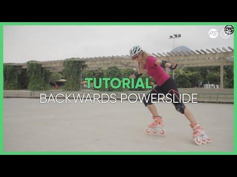 How to learn backwards Powerslides on skates - Inline skating tutorials Powerslide Swell Triskates