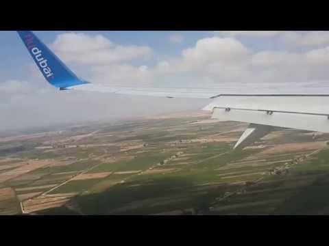 Landing In Borg El Arab International Airport, Alexandria, Egypt , Fly Dubai B737