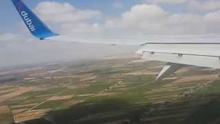 Landing In Borg El Arab International Airport, Alexandria, Egypt , Fly Dubai B737