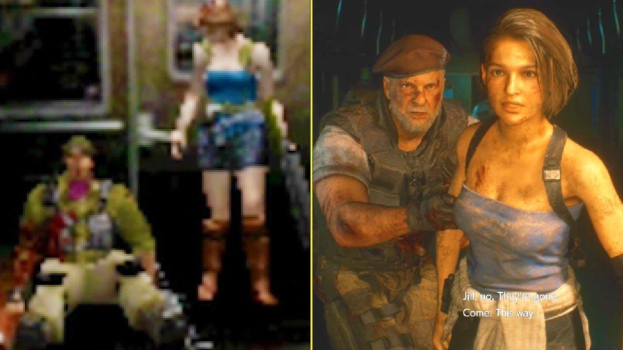 Resident Evil 3 Remake Vs Original Comparison Youtube