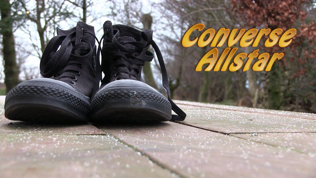 Converse Allstar 'High Monochrome' (Black Mono) On Feet