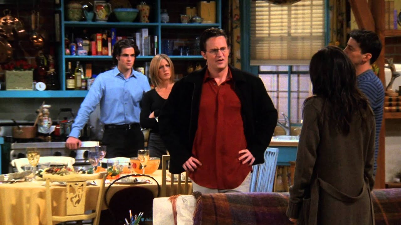 Image result for the one where chandler doesn't like dogs