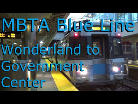 MBTA Blue Line from Wonderland to Government Center Station