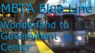 MBTA Blue Line from Wonderland to Government Center Station