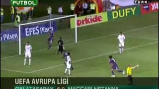 Galatasaray 6 0 Maccabi Netanya maçın geniş özeti ve golleri Şampiyonlar Ligi videolar