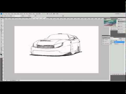 как рисовать концепт кар