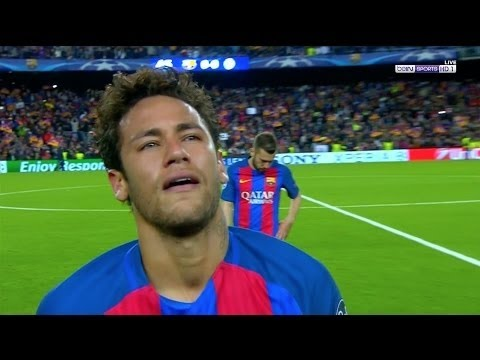 Neymar Jr Crying After The Elimination (Fc Barcelona 0-0 Juventus)