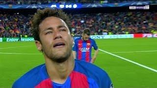 Neymar Jr Crying After The Elimination (Barca 0-0 Juve)