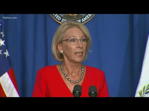 Betsy Devos visits Forsyth Central High School for a roundtable discussion on opening plans
