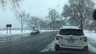 Washington DC Winter Storm LIVE Sunday